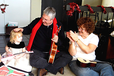 Terry and Rich applaud Ashley's guitar playing - 12-18-11